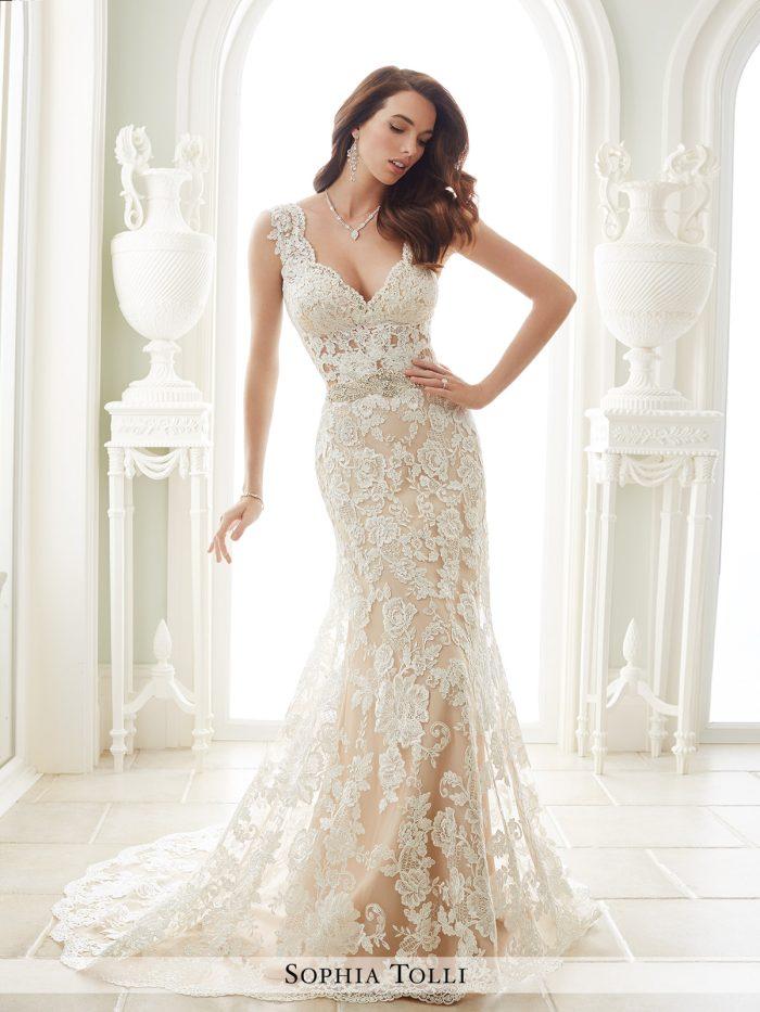 y lace wedding dresses